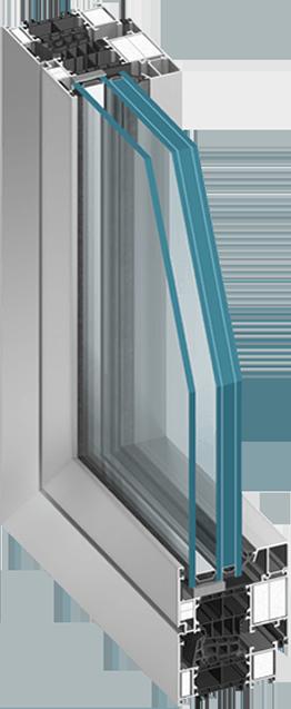 Okna przeciwpożarowe otwierane w systemie MB-86EI o odporności ogniowej EI30